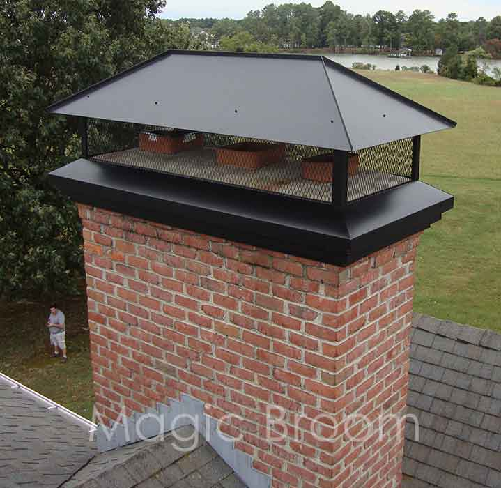 Chimney Caps Amp Dampers Southern Md Magic Broom Chimney