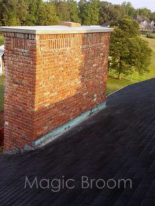 before chimney cricket installation