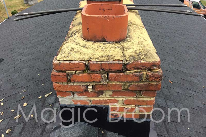 crumbling crown and mortar joints