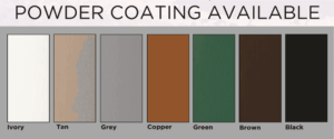 Available Powder Coating