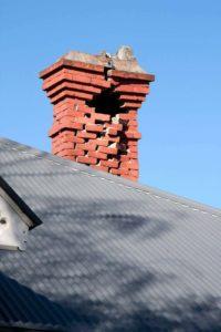 crumbling masonry chimney