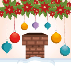 holiday chimney graphic